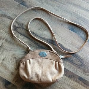 EUC Fossil Mini Tan Leather Crossbody Bag